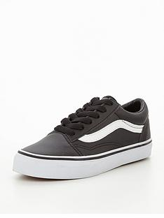 vans-vans-old-skool-tumble-leather-childrens-trainer