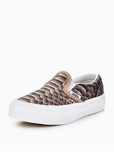 vans-vans-classic-slip-on-metallic-snake-childrens-trainer