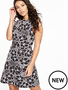 warehouse-wood-block-floral-print-dress