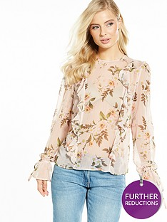v-by-very-frill-front-printed-blouse