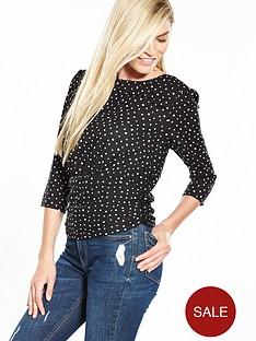 v-by-very-80s-spot-print-corset-blouse