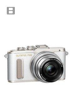 olympus-pen-e-pl8-camera-white-ed-14-42mm-mzuiko-ez-pancake-lens-kit