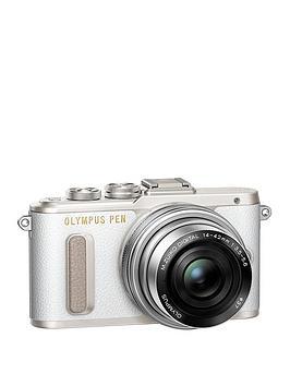olympus-pen-e-pl8-camera-white-ed-14-42mm-mzuiko-ez-pancake-lens-kit