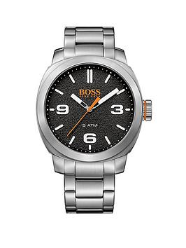 Hugo Boss Hugo Boss Orange Cape Town Black Dial Stainless Steel Bracelet Mens Watch