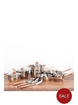 sabichi-copper-base-10-piece-pan-set