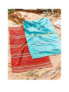catherine-lansfield-rainbow-beach-towel-pair-red-amp-aqua
