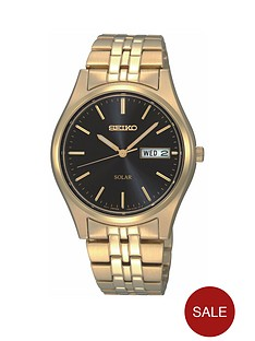 seiko-gents-black-dial-gold-plated-bracelet-watch