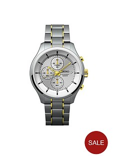 seiko-gents-silver-dial-two-tone-bracelet-watch