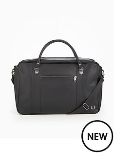 fred-perry-pique-texture-overnight-bag