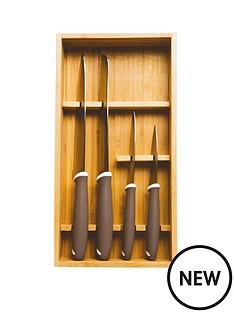 prestige-prestige-5-pce-bamboo-tray-knife-block-set