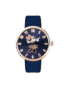 minnie-mouse-minne-mouse-navy-amp-rose-strap-ladies-watch