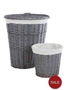 split-willow-laundry-hamper-amp-bin-set