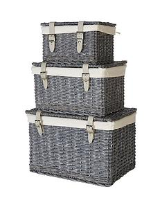 split-willow-set-3-leather-strap-storage-trunks