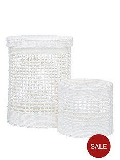 white-paper-crochet-laundry-basket-and-bin-set