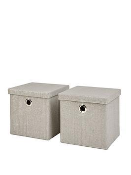 set-of-2-glitter-paperloom-folding-lidded-cube-boxes