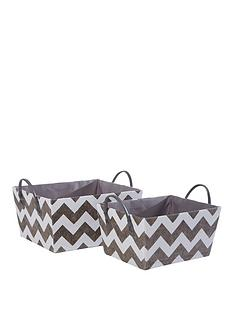 set-of-2-chevron-storage-boxes