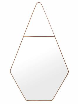 ideal-home-hexagonal-wall-mirror