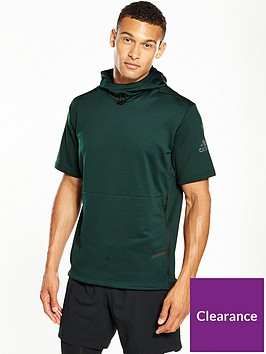 adidas-workout-short-sleeve-hoodie