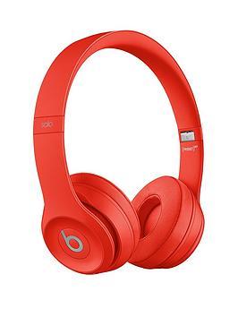 beats by dr dre solo 3 wireless on ear headphones red