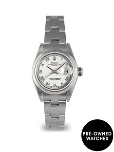rolex-rolex-preowned-datejust-silver-tone-baton-dial-stainless-steel-ladies-watch-ref-79160