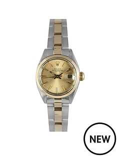 rolex-rolex-preowned-datejust-champagne-dial-bimetal-ladies-watch-ref-6916