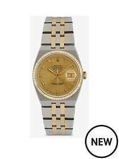 rolex-rolex-preowned-oysterquartz-original-champagne-dial-bimetal-ladies-watch-ref-17013