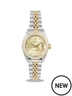 rolex-rolex-preowned-datejust-original-diamond-dial-bimetal-datejust-ladies-watch-ref-69173