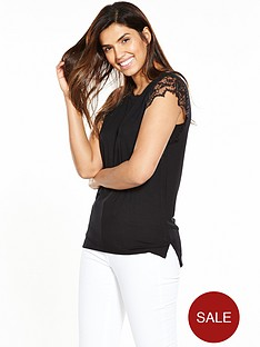 v-by-very-pleated-lace-sleeve-t-shirt