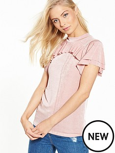 v-by-very-frill-slinky-top-pink