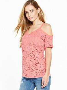 v-by-very-cold-shoulder-lace-top-peach