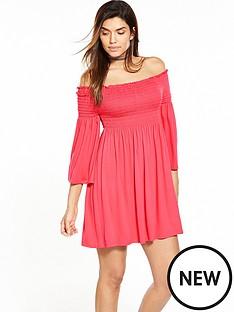 v-by-very-smock-sheered-bandeau-dress