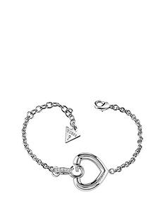 guess-rhodium-platednbspswarovskireg-crystal-g-heart-bracelet