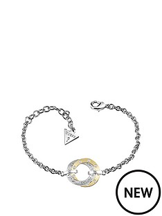 guess-rhodium-and-gold-platednbspswarovskireg-crystal-open-circle-bracelet