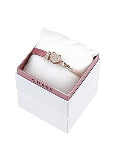guess-rose-gold-plated-pink-leathernbspswarovskireg-crystal-heart-bangle