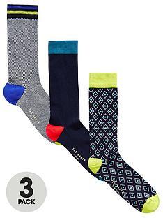 ted-baker-3pk-geo-sock