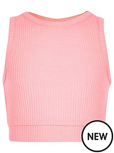 river-island-girls-pink-ribbed-crop-top