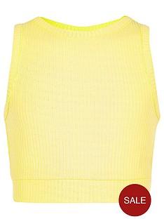 river-island-girls-yellow-ribbed-crop-top