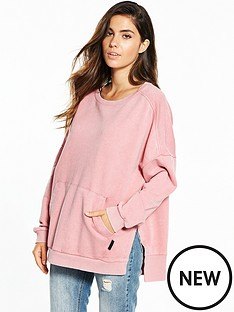 reebok-favorite-oversized-sweater-peachnbsp