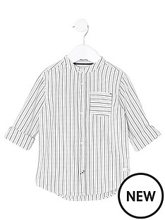 river-island-mini-boys-cream-stripe-grandad-shirt