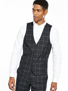 river-island-checked-waistcoat