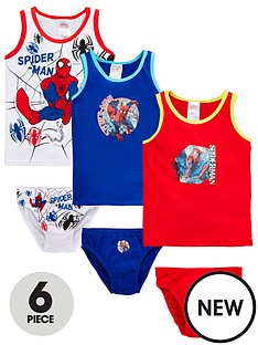 spiderman-spiderman-boys-6-piece-vest-and-brief-set