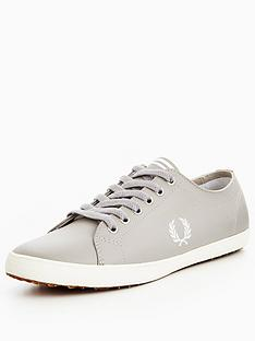 fred-perry-kingston-leather-silverwhite