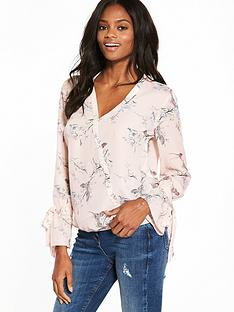 v-by-very-tie-sleeve-wrap-blouse