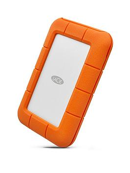 Cheapest price of Lacie Rugged 2 TB Thunderbolt Plus USB-C Portable 2.5-Inch External Hard Drive for PC and Mac - Orange in new is £179.99