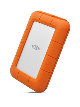 Lacie    4Tb Rugged Thunderbolt Shock &Amp; Drop Resistance Portable External Hard Drive For Pc &Amp; Mac