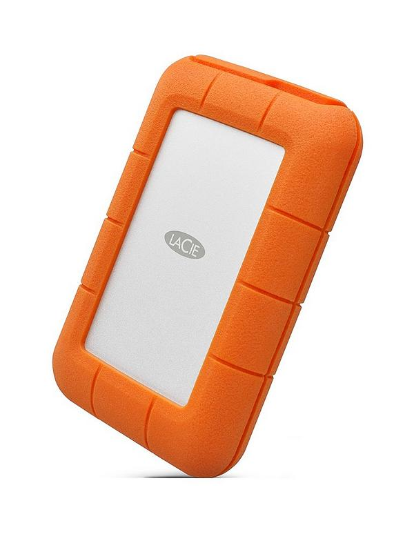 Lacie 4tb Rugged Thunderbolt Shock Drop Resistance Portable External Hard Drive For Pc Mac