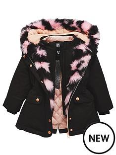 mini-v-by-very-girls-multi-pink-fur-lined-black-parka