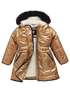 mini-v-by-very-girls-longline-metallic-fur-trim-coat