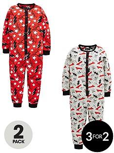 mini-v-by-very-boys-2-pack-skull-amp-lightening-sleepsuits