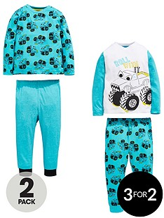 mini-v-by-very-boys-2-pack-monster-truck-pyjamas